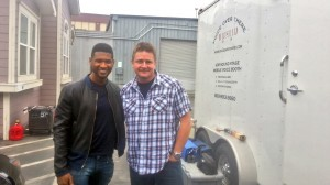 Usher at trailer